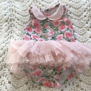 Cute onesie with tulle skirt